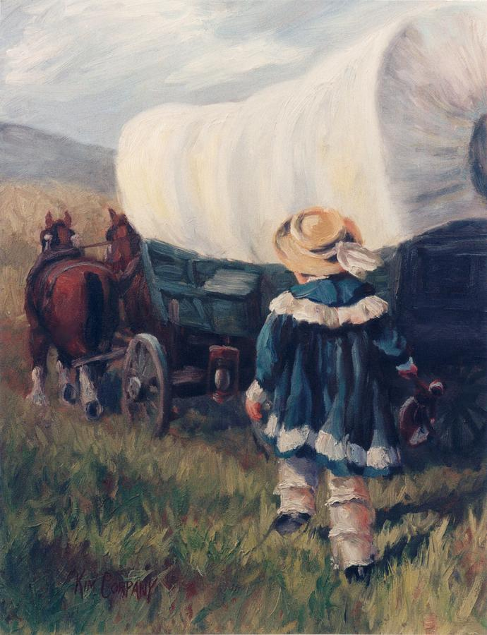 The Little Pioneer Western Art Painting  - The Little Pioneer Western Art Fine Art Print