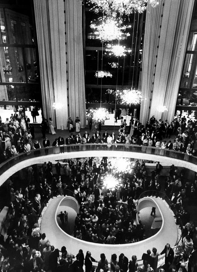 The Lobby Of The Metropolitan Opera Photograph