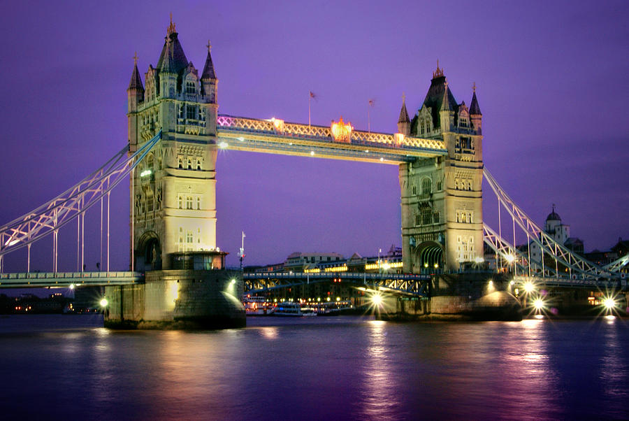 The London Tower Bridge At Twilight Photograph  - The London Tower Bridge At Twilight Fine Art Print