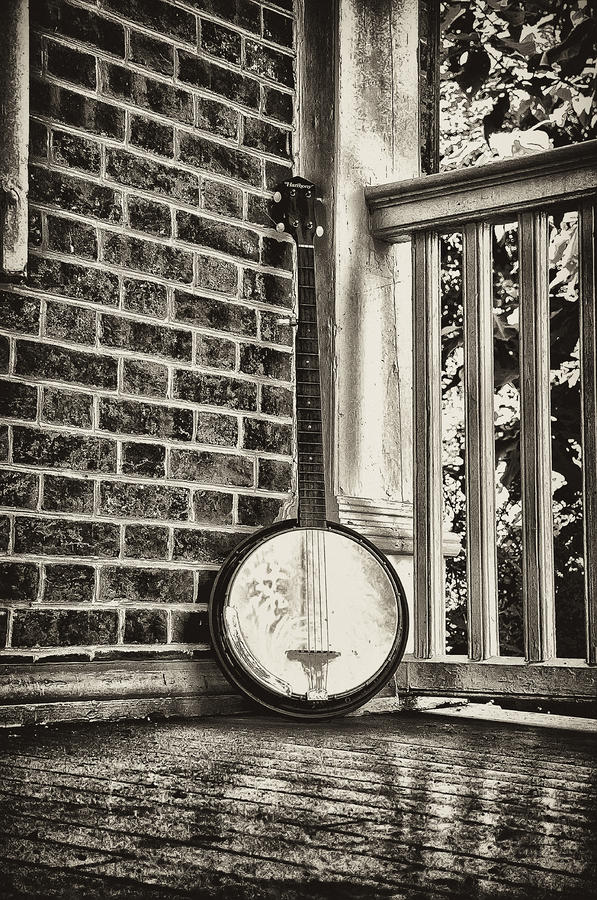 The Lonely Banjo Photograph  - The Lonely Banjo Fine Art Print