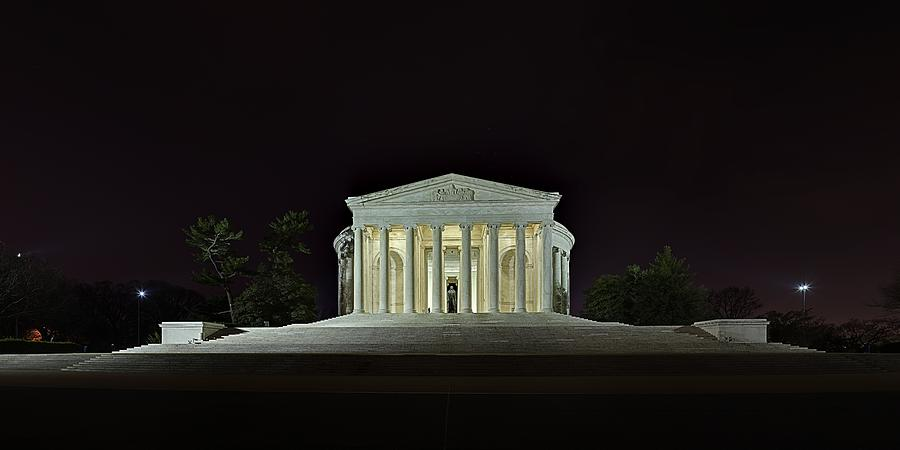 The Lonely Tourist At Jefferson Memorial Photograph  - The Lonely Tourist At Jefferson Memorial Fine Art Print