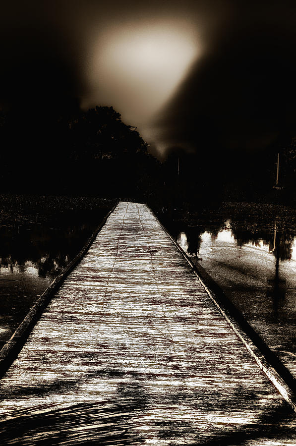 The Long Dark Pier Photograph  - The Long Dark Pier Fine Art Print