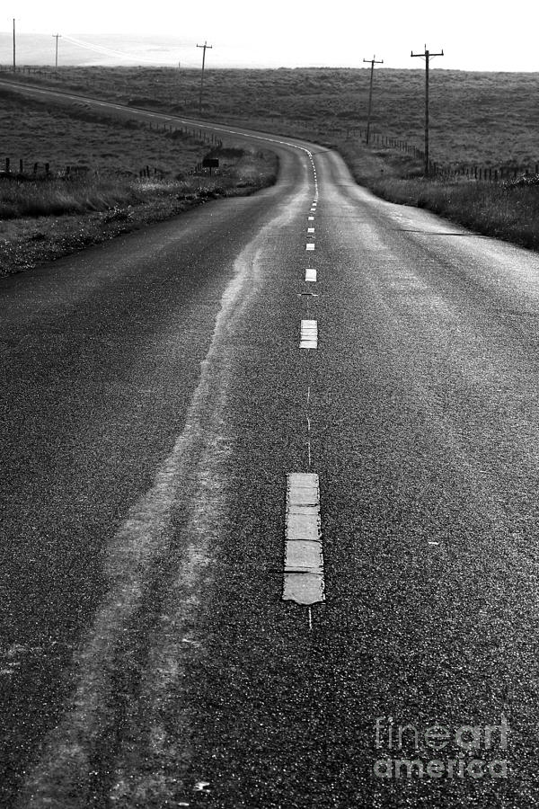 The Long Road Home . 7d9898 . Black And White Photograph  - The Long Road Home . 7d9898 . Black And White Fine Art Print