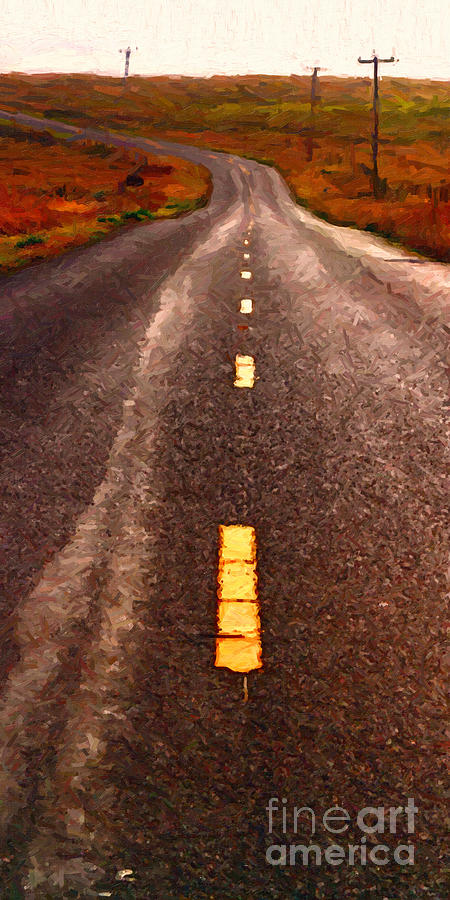 The Long Road Home . Painterly Style . Long Size Photograph