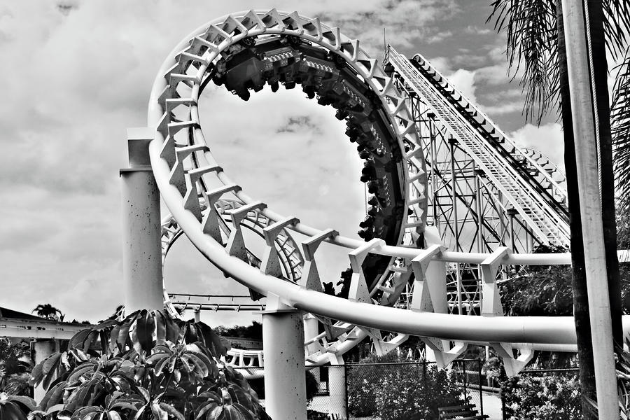 The Loop Black And White Photograph  - The Loop Black And White Fine Art Print