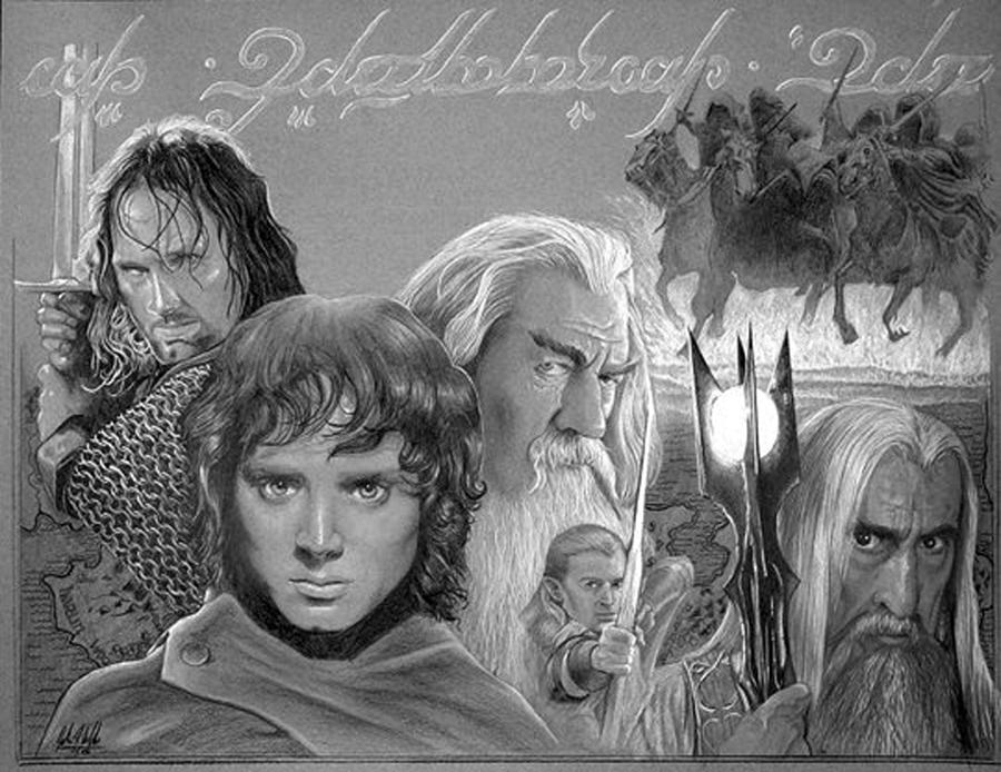 The Lord Of The Rings Poster Art Painting