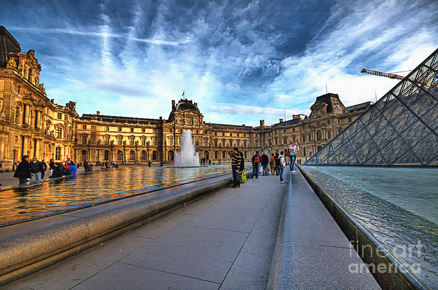The Louvre Paris Photograph  - The Louvre Paris Fine Art Print