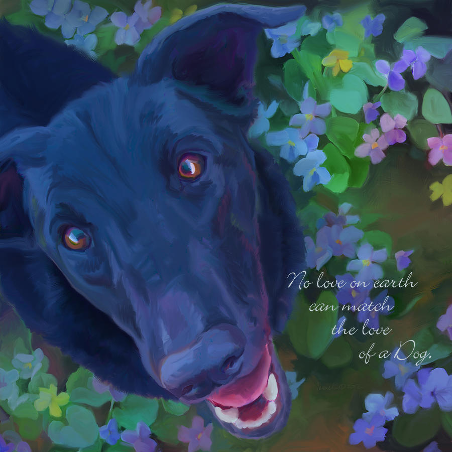 The Love Of A Dog Painting  - The Love Of A Dog Fine Art Print