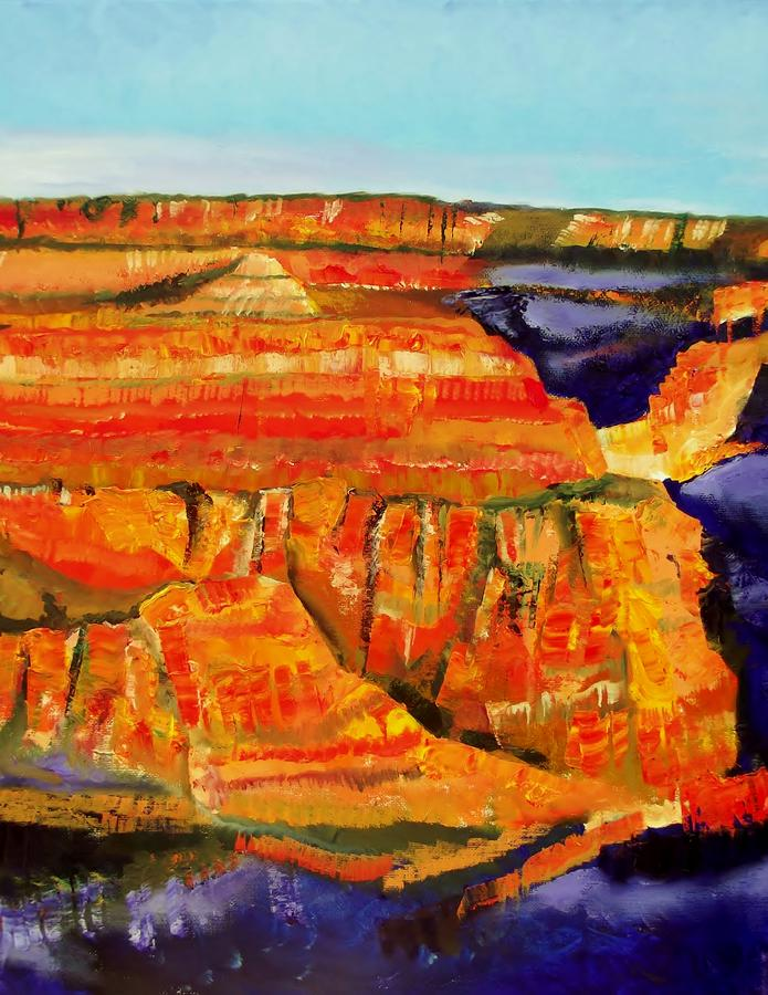 Grand Canyon National Park Painting - The Magnificent Grand Canyon 2 by FS Boric