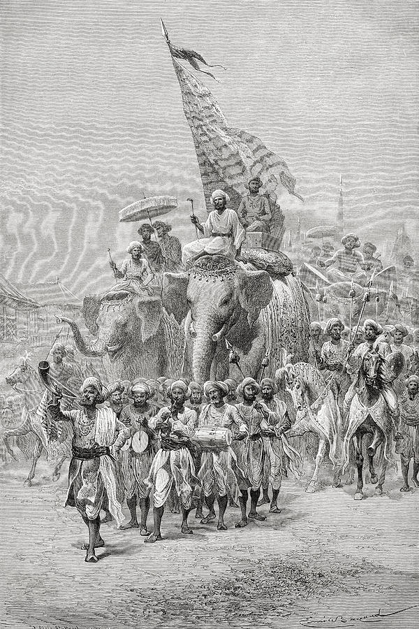 The Maharaja Of Baroda, India Riding An Photograph