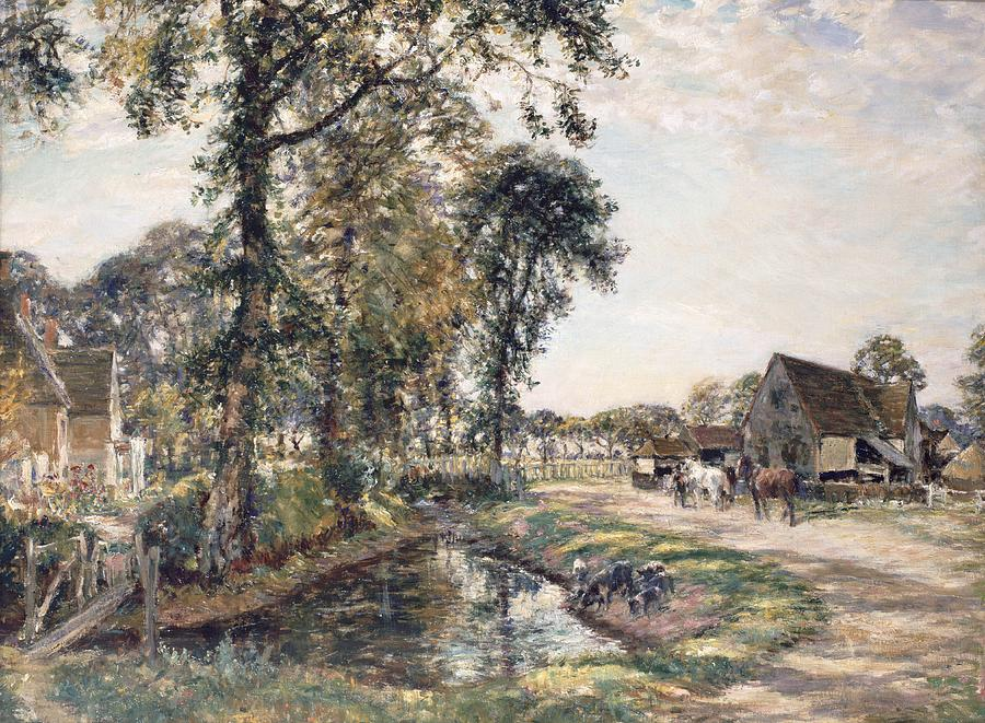The Manor Farm Painting