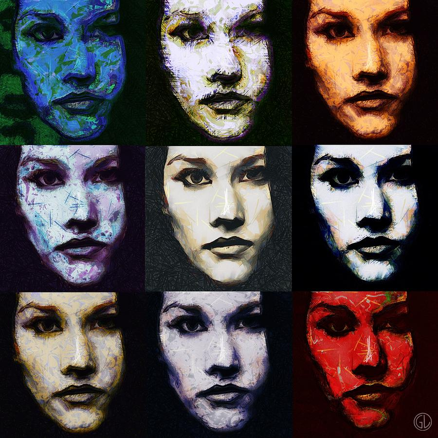 The Many Faces Of Eve Digital Art  - The Many Faces Of Eve Fine Art Print