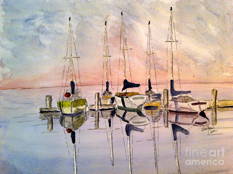 The Marina Painting  - The Marina Fine Art Print
