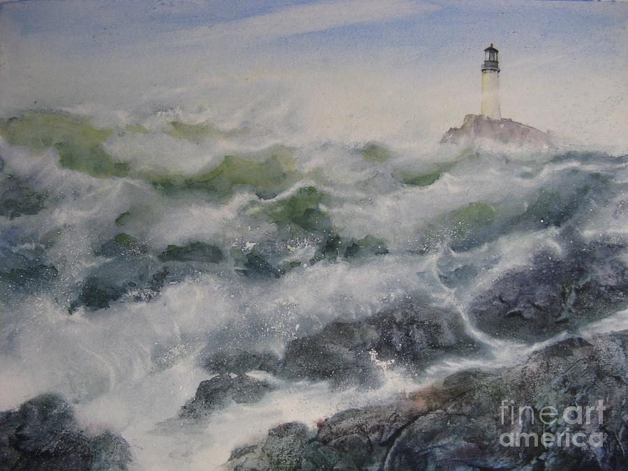 Seascape Painting - The Marker by Ronald Tseng