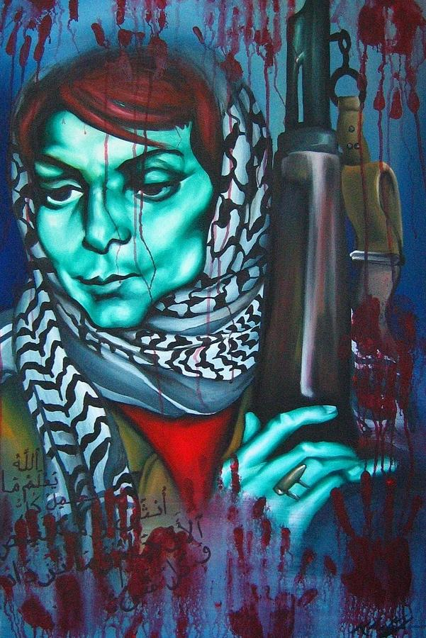 The Marriage Of Leila Khaled Painting  - The Marriage Of Leila Khaled Fine Art Print