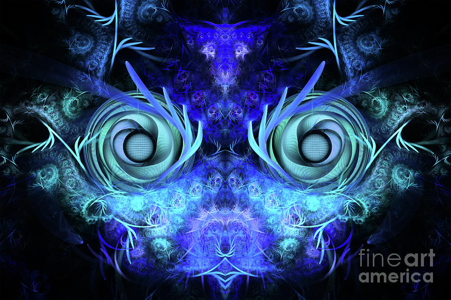 The Mask Digital Art  - The Mask Fine Art Print