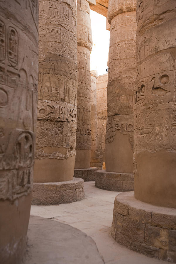 The Massive Columns In The Hypostyle Photograph