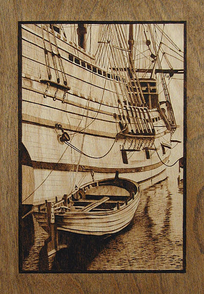The Mayflower Plymouth Ma Drawing