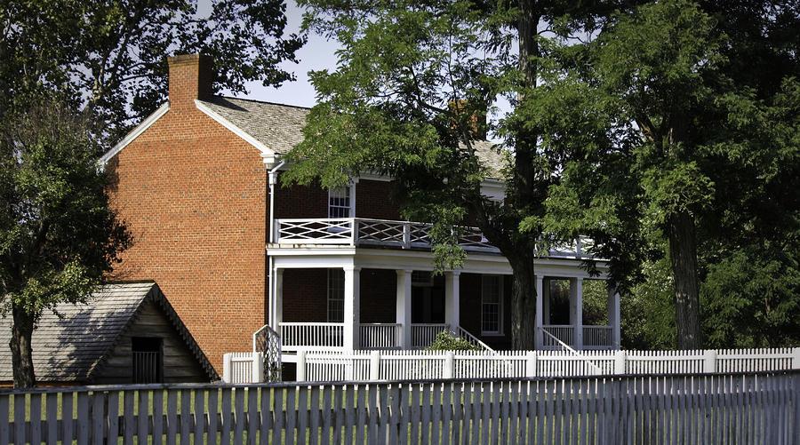 Appomattox Photograph - The Mclean House In Appomattox Virgina by Teresa Mucha