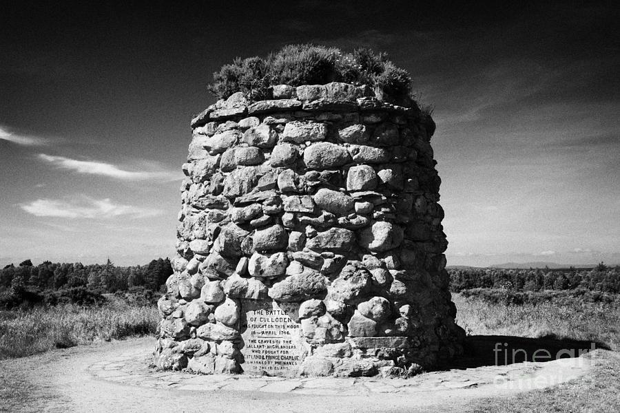 the memorial cairn on Culloden moor battlefield site highlands scotland Photograph