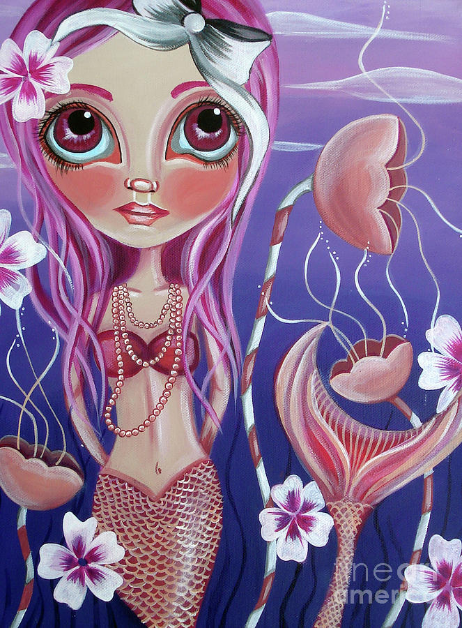 The Mermaids Garden Painting  - The Mermaids Garden Fine Art Print