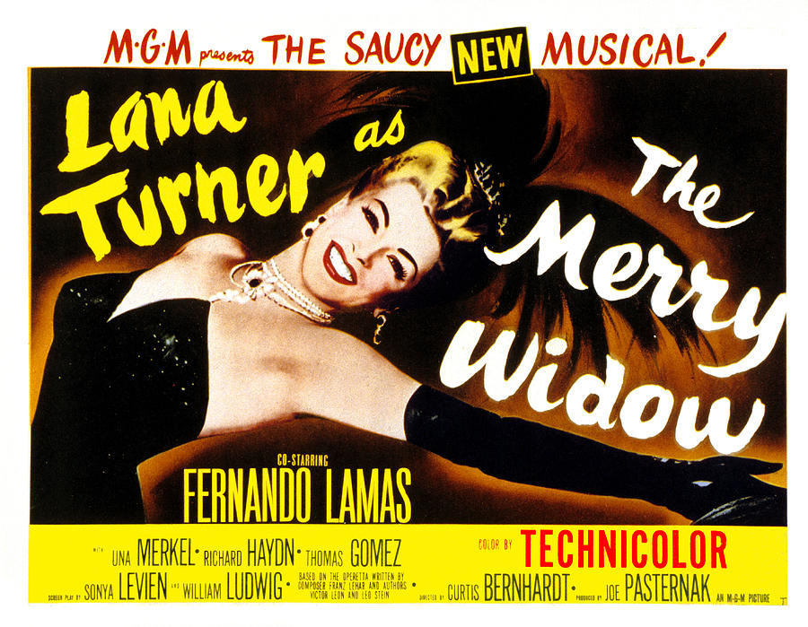 The Merry Widow, Lana Turner, 1952 Photograph  - The Merry Widow, Lana Turner, 1952 Fine Art Print