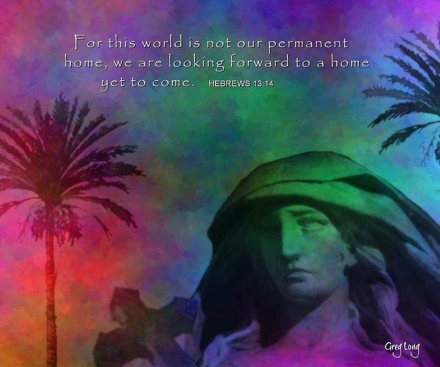 Bible Art Prints Digital Art - The Message by Greg Long