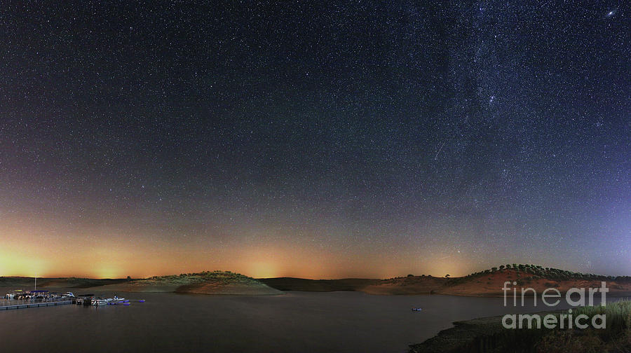 The Milky Way Over A Lake In Portugal Photograph