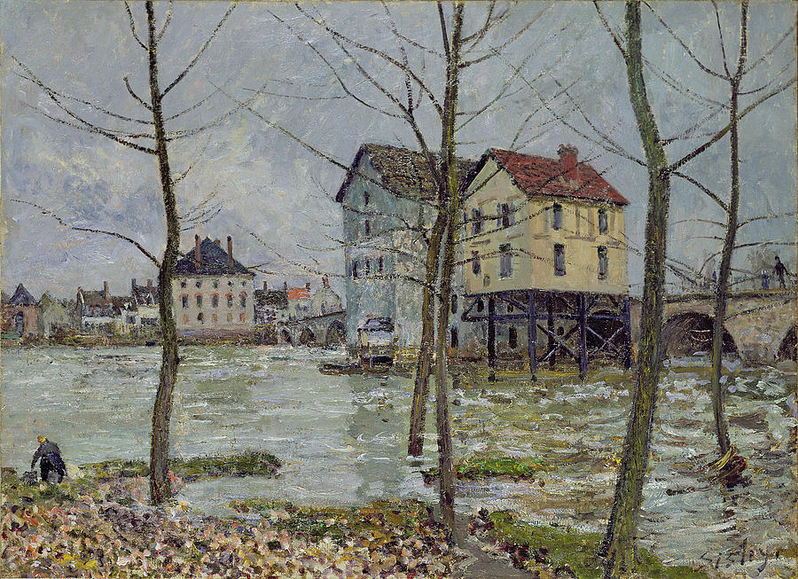 The Mills At Moret Sur Loing Painting
