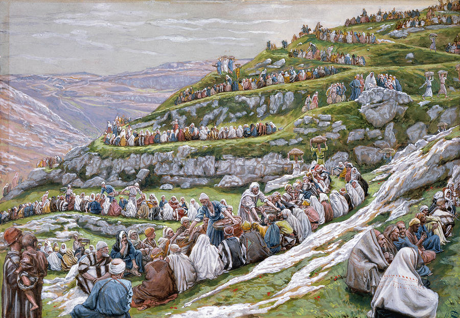 The Miracle Of The Loaves And Fishes Painting