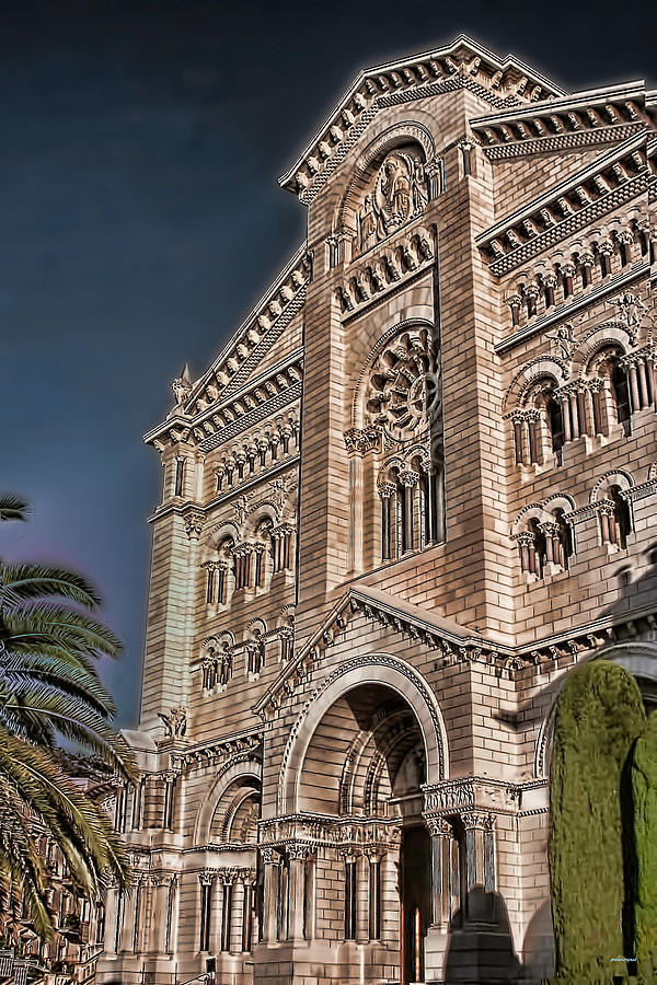 The Monaco Cathedral Photograph  - The Monaco Cathedral Fine Art Print