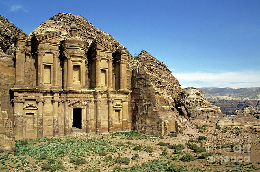 The Monastery Ad Dayr At Petra Photograph