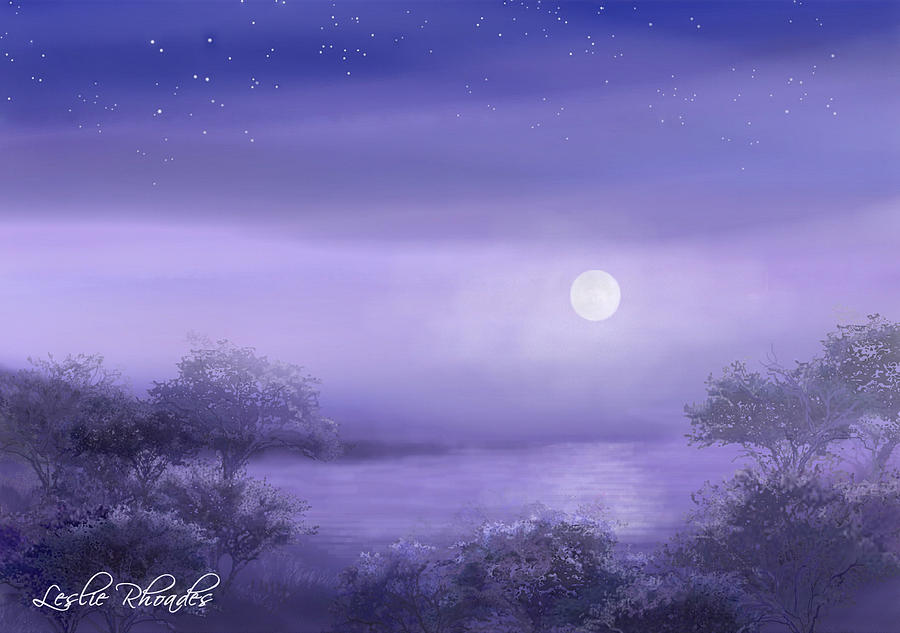The Moon Will Set Drawing  - The Moon Will Set Fine Art Print