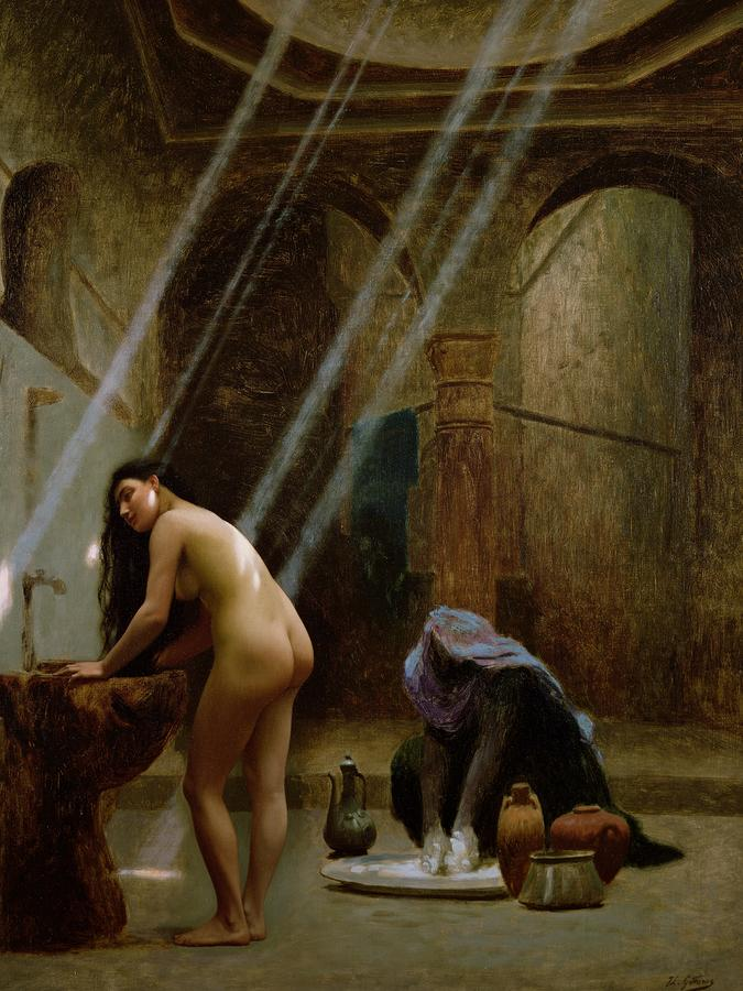 The Moorish Bath Painting
