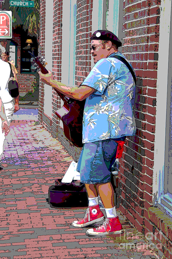 The Music Man And His Red Shoes Photograph  - The Music Man And His Red Shoes Fine Art Print