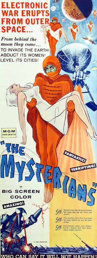 The Mysterians, Insert Poster Art, 1957 Photograph