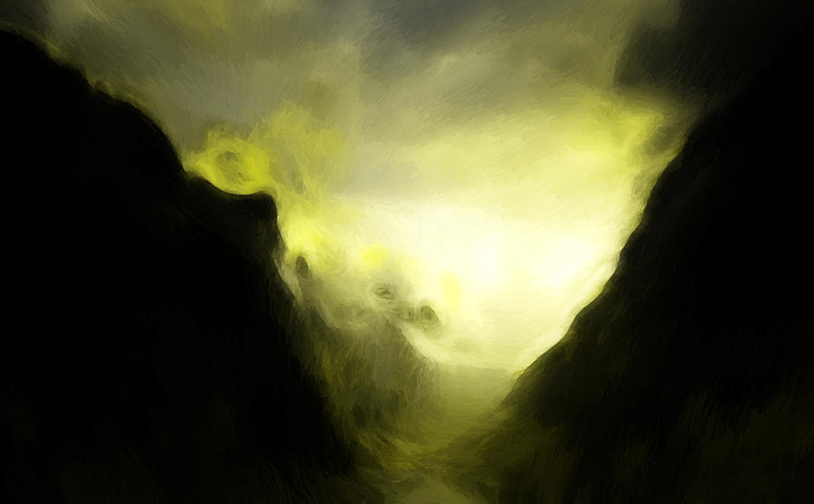 The Mystic Mountain Painting  - The Mystic Mountain Fine Art Print