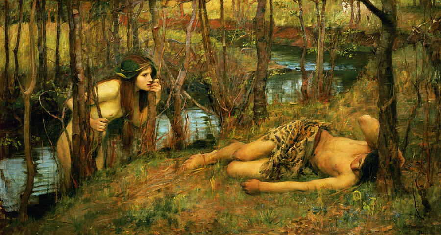 The Naiad Painting  - The Naiad Fine Art Print