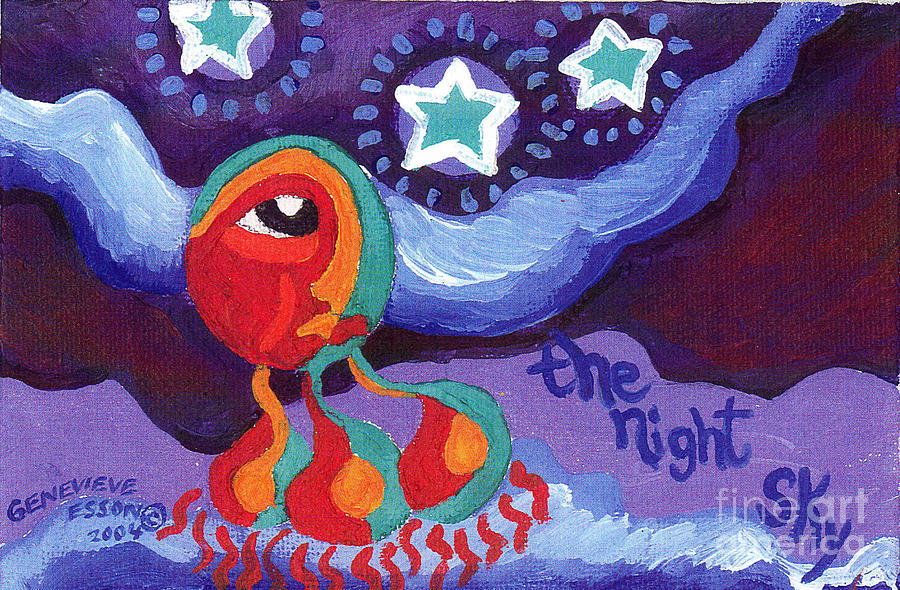 The Night Sky Painting  - The Night Sky Fine Art Print