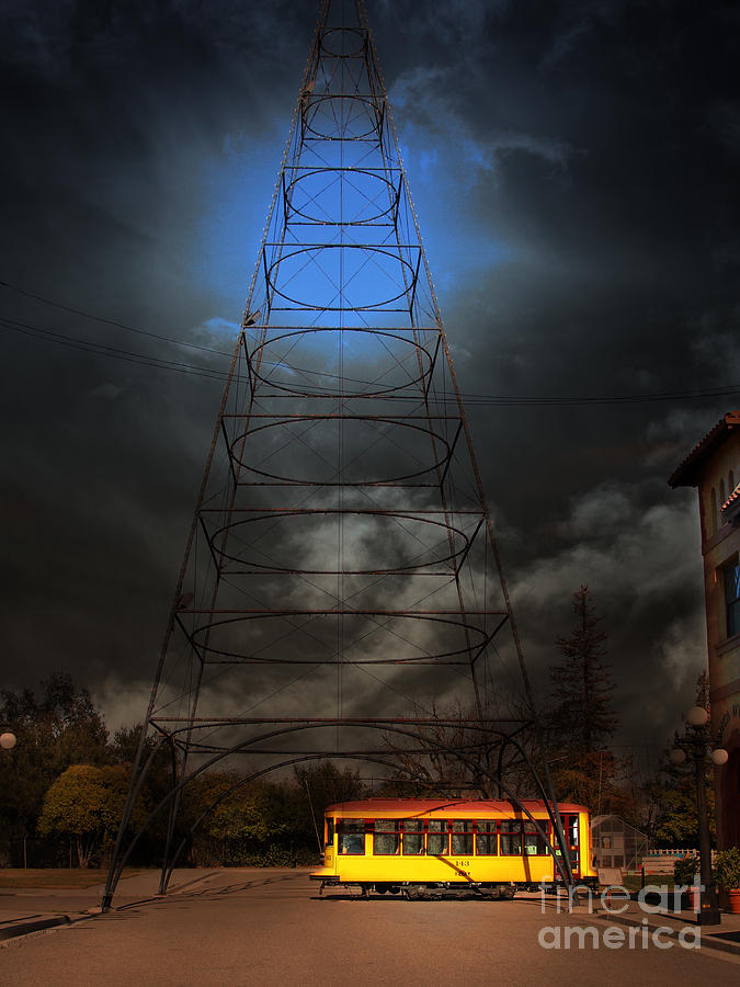 The Night The Old San Jose Railroads Cablecar Trolley 143 Reappeared . 7d12959 Photograph  - The Night The Old San Jose Railroads Cablecar Trolley 143 Reappeared . 7d12959 Fine Art Print