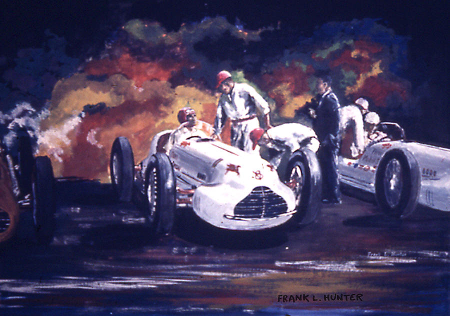 The Novi Specials At Indy Painting By Frank Hunter