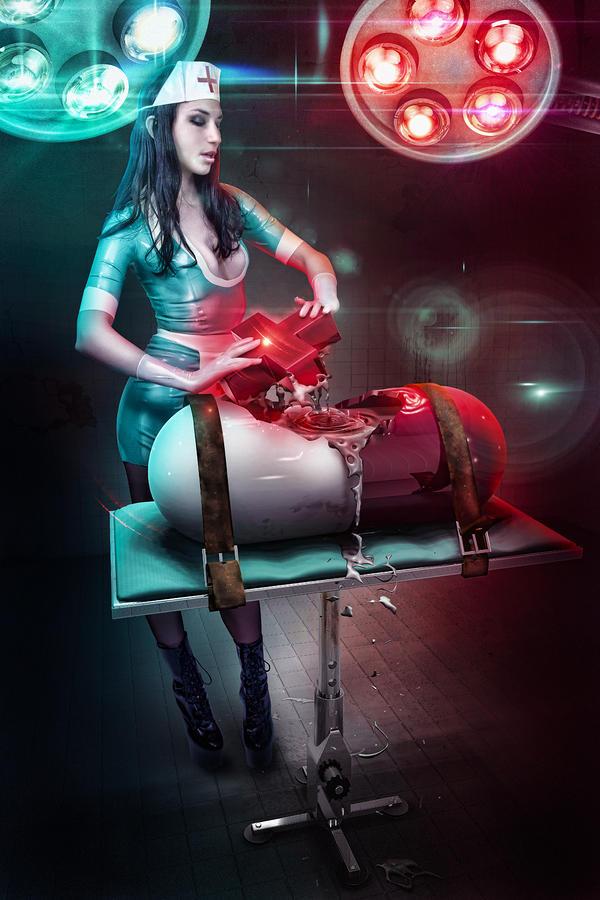 Robert  Digital Art - The Nurse by Robert Palmer