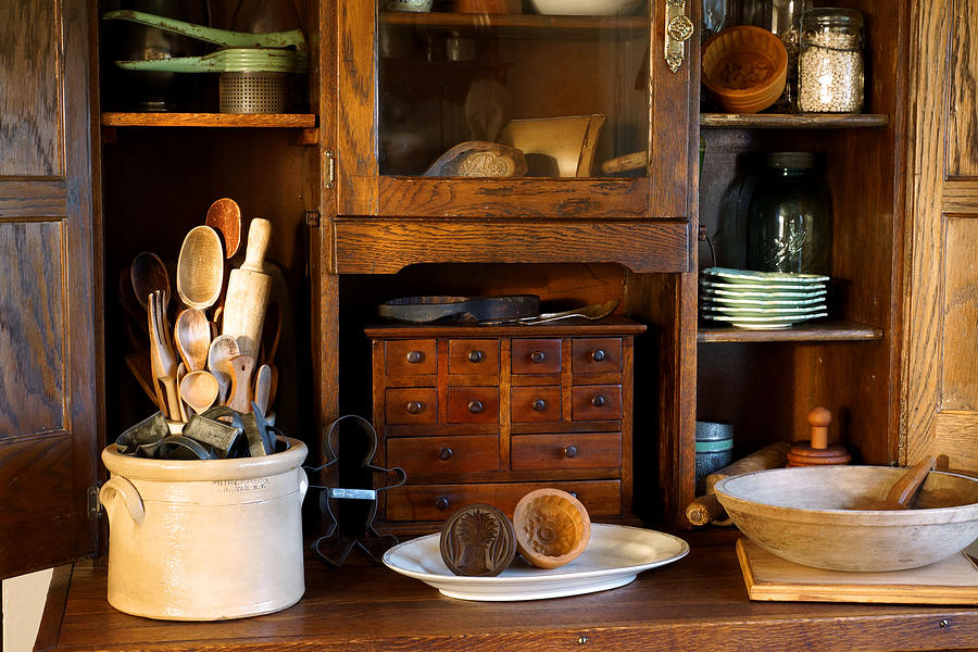 Hoosier Cabinet Photograph - The Old Baker by Carmen Del Valle