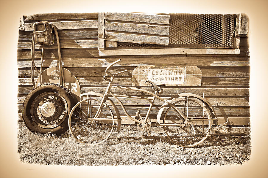 The Old Bicycle Photograph  - The Old Bicycle Fine Art Print
