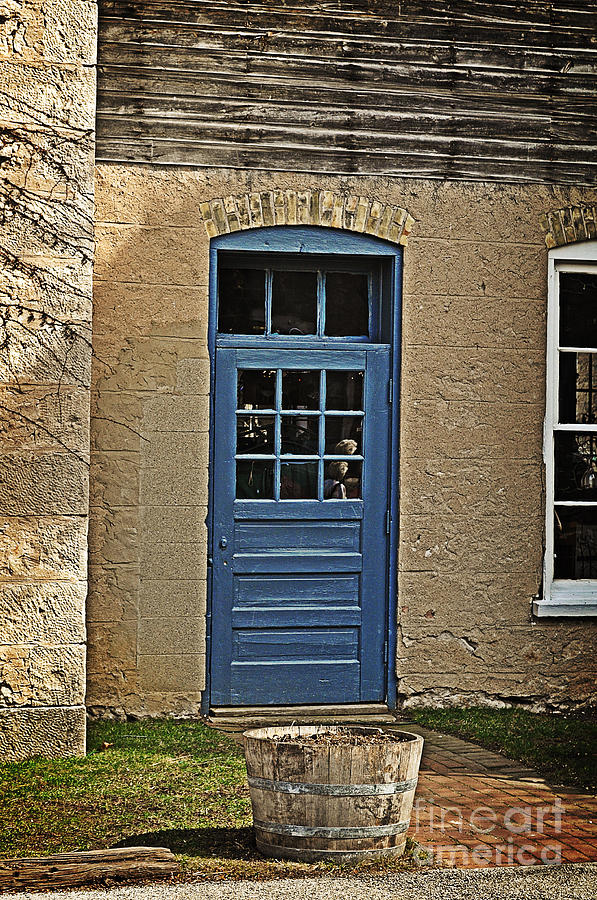 Cedar Creek Winery Photograph - The Old Blue Door by Mary Machare