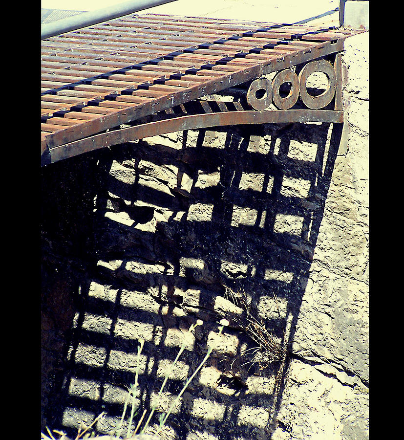 Iron Photograph - The Old Bridge by Guadalupe Nicole Barrionuevo