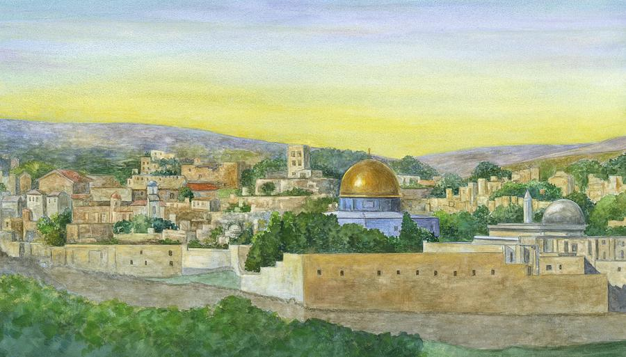 The Old City Painting  - The Old City Fine Art Print