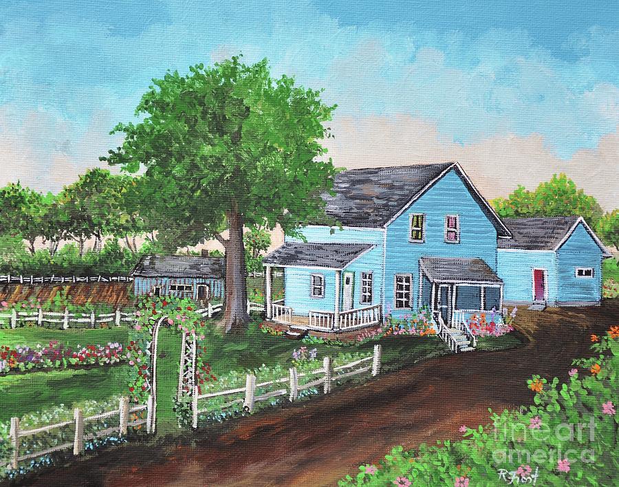 The Old Farmhouse PaintingOld Farmhouse Painting