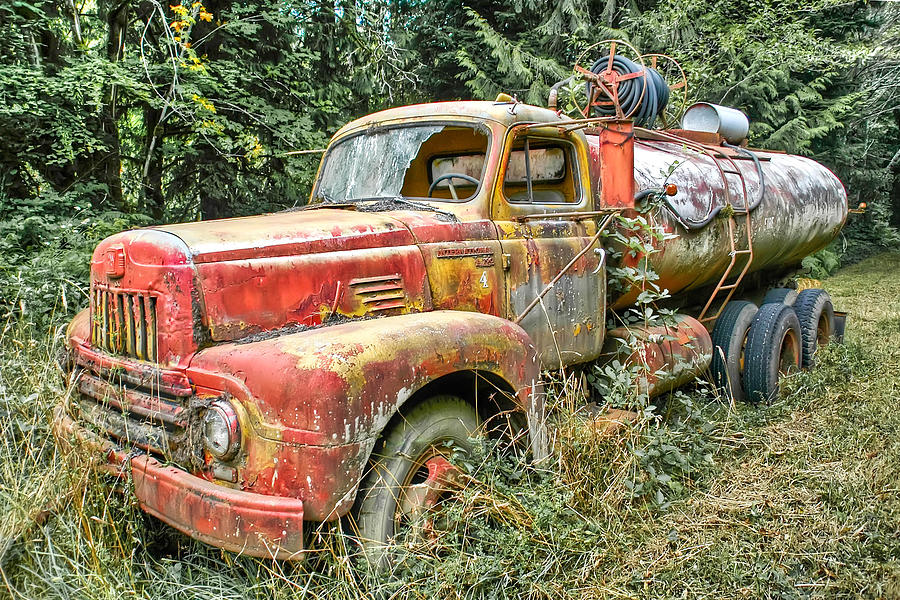 The Old Fire Truck Photograph  - The Old Fire Truck Fine Art Print