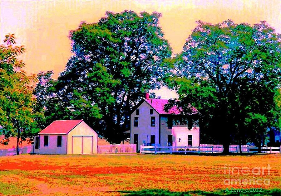 The Old Homestead Impressionism Photograph  - The Old Homestead Impressionism Fine Art Print